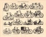 Velociped Fahrrad Holzstich 1896 Original der Zeit
