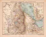 Abessinien Eritrea Südarabien Karte Lithographie...