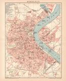 Bordeaux Lithographie 1899 Original der Zeit