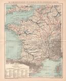 Seefahrt Frankreich Lithographie 1899 Original der Zeit