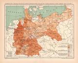 Infektionskrankheiten Deutsche Reich I. Karte...