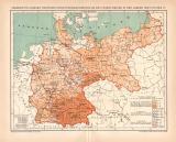 Infektionskrankheiten Deutsche Reich II. Karte...