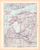 Originaldruck aus Meyers Handatlas zweite Ausgabe von...