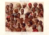 Afrikanische Völker Chromolithographie 1885 Original...