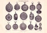 Geschichte der Taschenuhr Autotypie 1898 Original der Zeit