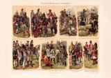 Geschichte der Uniformen I. Chromolithographie 1898...