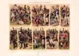 Geschichte der Uniformen II. Chromolithographie 1898...