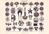 Schmucksachen II. Holzstich 1899 Original der Zeit