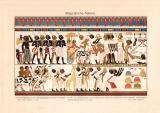 Altägyptische Malerei historischer Druck...