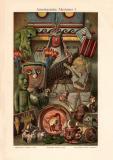 Amerikanische Altertümer I. Chromolithographie 1902...