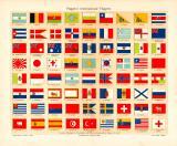 Flaggen I. International Chromolithographie 1904 Original...