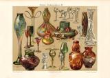 Moderne Glaskunstindustrie III. historischer Druck...