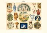 Keramik I. Europa Persien Ostasien historischer Druck...