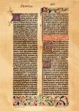 Faksimile Gutenberg Bibel historischer Druck...