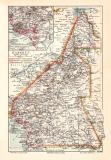 Kamerun historische Landkarte Lithographie ca. 1905