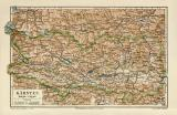 Kärnten historische Landkarte Lithographie ca. 1905