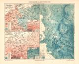 Deutschland Klima historische Landkarte Lithographie ca....
