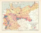 Bevölkerungs-Dichtigkeit Deutsches Reich historische...