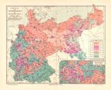 Konfessionen Deutsches Reich historische Landkarte...