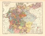 Deutschland beim Tod Kaiser Karls IV. historische...