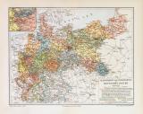 Eisenbahn im Deutschen Reich historische Landkarte...