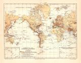 Erdbeben Seebeben Vulkane historische Landkarte...