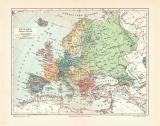 Europa Politische Übersicht historische Landkarte...