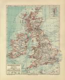 Großbritannien Irland historische Landkarte...
