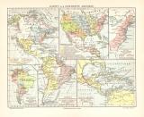 Amerika Geschichte historische Landkarte Lithographie ca....