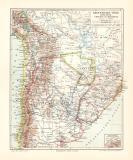 Argentinien Chile Bolivien Uruguay Paraguay Karte...