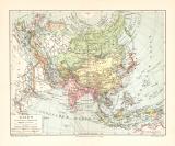 Asien politische Übersicht historische Landkarte...