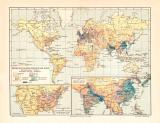 Bevölkerungsdichtigkeit der Erde historische...