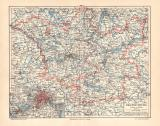 Brandenburg historische Landkarte Lithographie ca. 1903