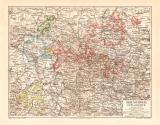 Braunschweig Lippe Waldeck historische Landkarte...