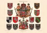 Preußische Wappen historischer Druck...