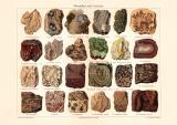 Mineralien & Gesteine historischer Druck...