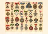 Orden II. historischer Druck Chromolithographie ca. 1906