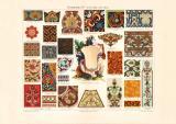 Ornamente IV. Asien historischer Druck Chromolithographie...