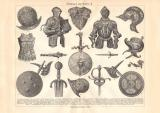 Rüstungen & Waffen I. - III. historischer Druck...