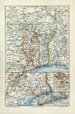 Togo historische Landkarte Lithographie ca. 1908