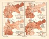 Krankheiten in Deutschland historische Landkarte...