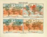 Welt Temperatur Isothermen Isanomalen historische...