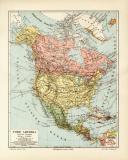 Nord Amerika Politische Übersicht historische...