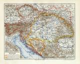 Österreich Ungarn Monarchie historische Landkarte...