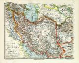 Persien historische Landkarte Lithographie ca. 1906