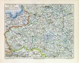 Westrussland historische Landkarte Lithographie ca. 1906