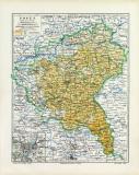 Posen historische Landkarte Lithographie ca. 1906