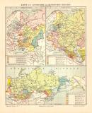 Russisches Reich Geschichte historische Landkarte...