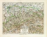 Königreich Sachsen historische Landkarte...
