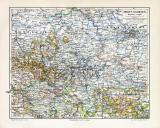 Provinz Sachsen historische Landkarte Lithographie ca. 1907